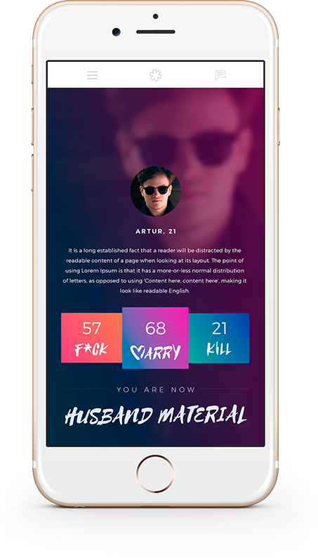 Dating App Spiel
